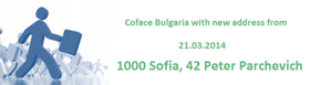 Coface Bulgaria with new address from 24.03.2014