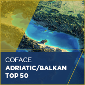 Coface Adriatic/Balkan Top 50 - карта на региона