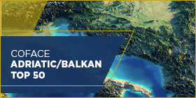 Coface Adriatic/Balkan Top 50 - map of region
