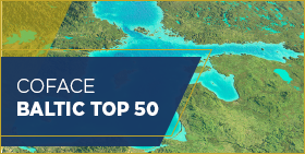 Coface Baltic Top 50 - 2018 - карта на региона