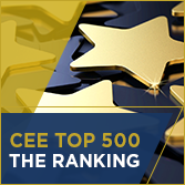 CEE Top 500 Ranking - golden stars
